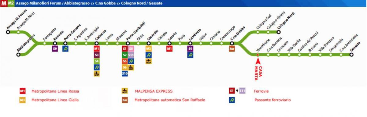 Metro - Linea 2 (verde)